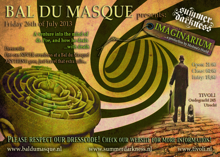 Bal du Masque 2013 Summer Darkness Flyer Front