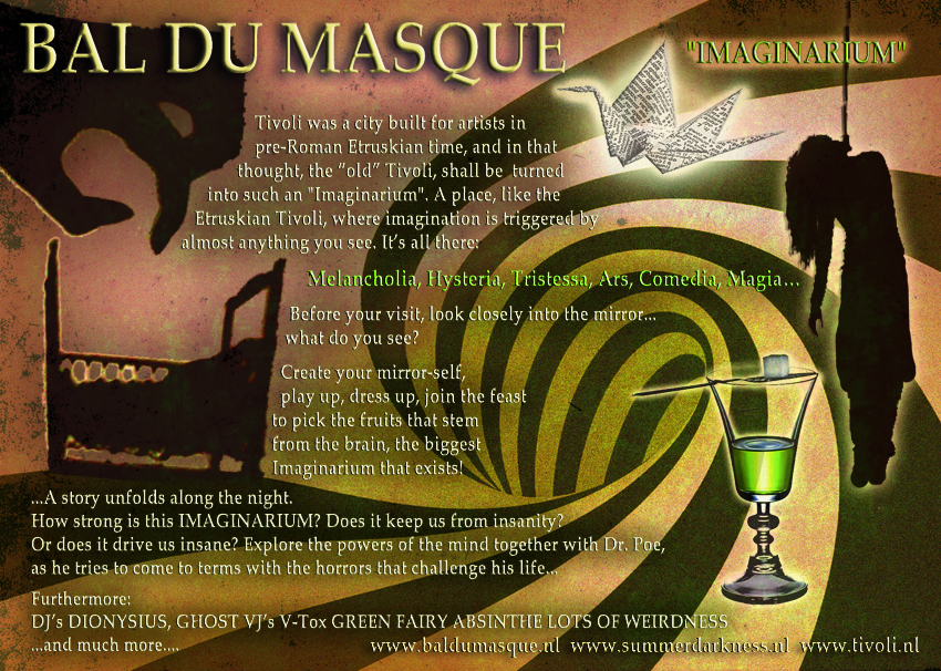 Bal du Masque 2013 Summer Darkness Flyer Back
